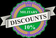 10 percent military discounts